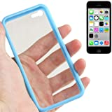 Apple iPhone 5c Case, Fone-Stuff® - Protective Crystal Clear Hardback Cover with TPU Bumper in Blue