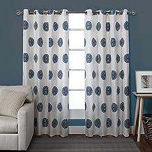Exclusive Home Curtains Sedgewick Linen Grommet Top Window Curtain Panel Pair, Teal, 54x96
