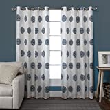 Cheap Exclusive Home Sedgewick Linen Blend Window Curtain Panel Pair with Grommet Top 54×96 Teal 2 Piece