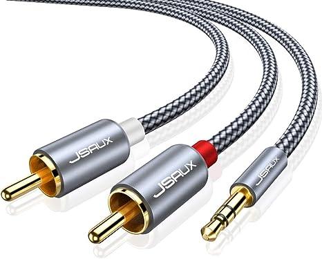 Amazon.com: JSAUX Cable RCA, [6.6 pies, doble blindaje ...