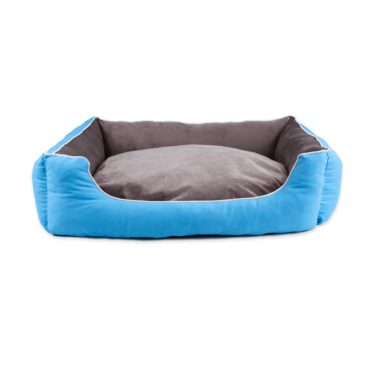 bluee M bluee M Sile Pet Bed, Indoor Washable Pet Soft Cushion Moisture Proof Oxford Cloth Pet Sofa Comfortable Breathable SL-021 (color   bluee, Size   M)