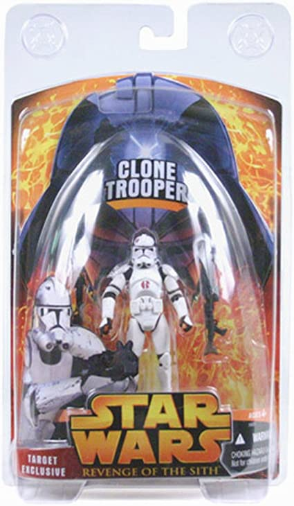 Amazon Com Star Wars Target Exclusive Clone Trooper Figure Revenge Of The Sith Toys Games