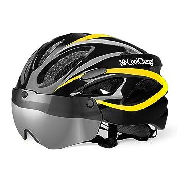 Qarape Multiuso con gafas magnéticas desmontables Casco exterior deportivo Confort transpirable Casco ajustable de bicicleta de