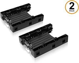 ICY DOCK Dual Tool-Less Dual 2.5 to 3.5 HDD Drive Bay SSD Mounting Bracket Kit Adapter - EZ-Fit Lite MB290SP-B (Two Units)