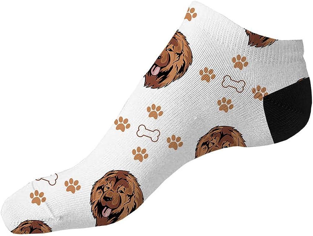Caucasian Shepherd Dog Pattern #1 Men-Women Adult Ankle Socks Novelty Socks