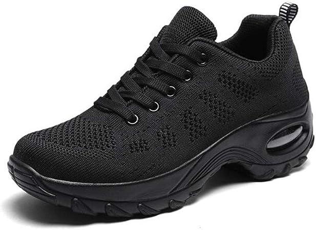 XIANGYANG Zapatos para Correr de Malla para Mujer, amortiguación de Aire Zapatillas de Deporte Ligeras Zapatillas para Caminar Ocasionales para Damas,Negro,36: Amazon.es: Hogar