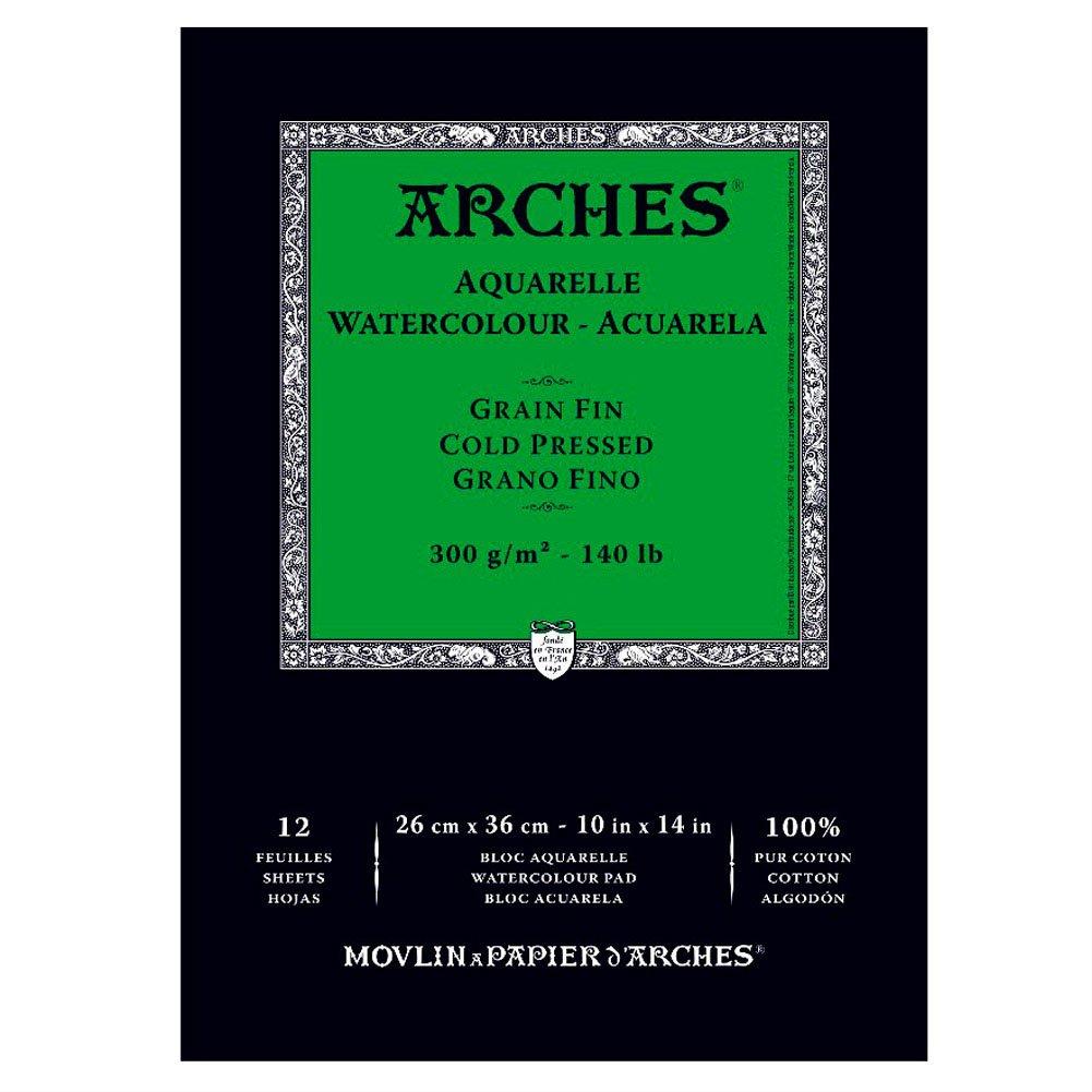 Arches Cold Press Watercolor Pad, 10X14 10X14 CANSON Inc 400014955