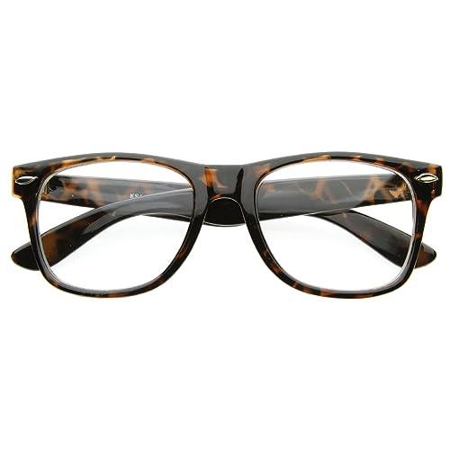 de7b9ee93f Image Unavailable. Image not available for. Color  Vintage Inspired Eyewear  Original Geek Nerd Clear Lens Horn Rimmed ...