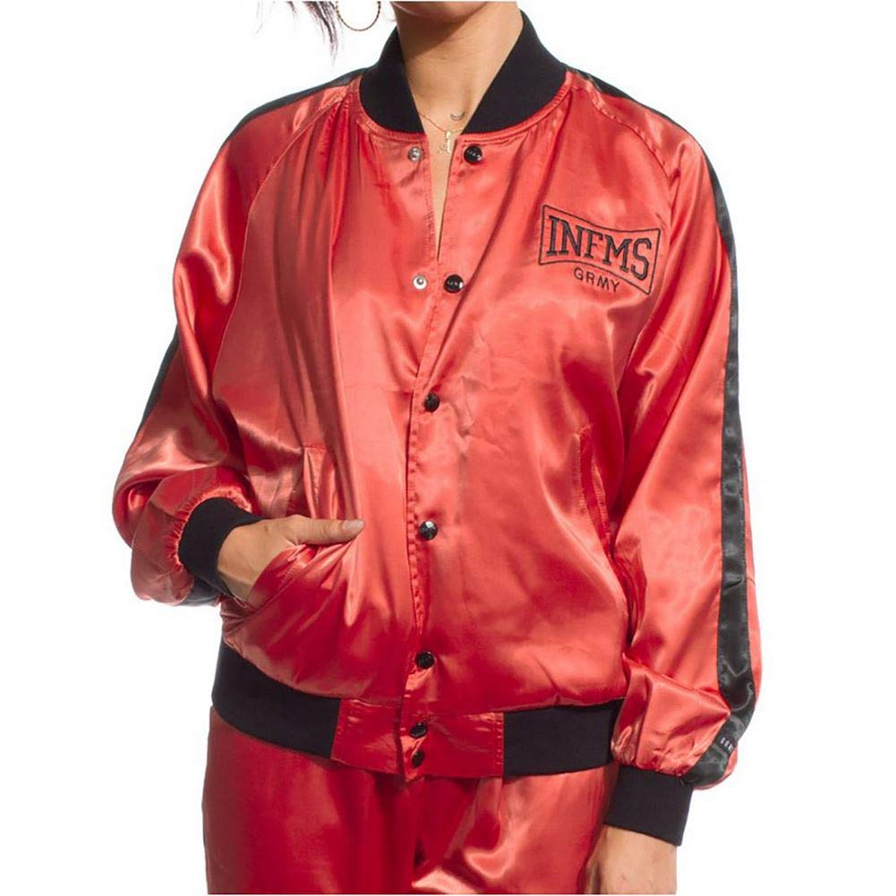 Grimey Chaqueta Bomber Chica The Gatekeeper FW17 Brick Red ...