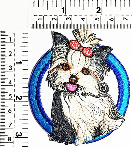 Yorkshire Terrier Dog Cute Dogs Puppy Dog Pets Animals Kids Children Cartoon Patch Applique for Clothes Great as Happy Birthday Gift]()