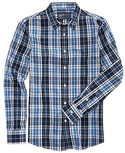 American Rag Men's Sinead Plaid Button Long-Sleeve Shirt (Blue, Small)