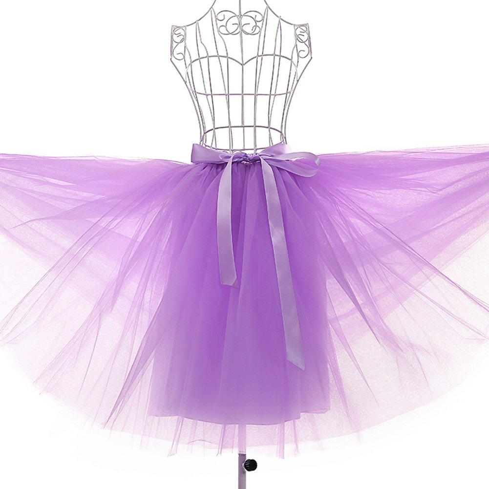 Mujer Fiesta Boda 7 Capa De Gasa De Tul Danza Ballet Cintura ...