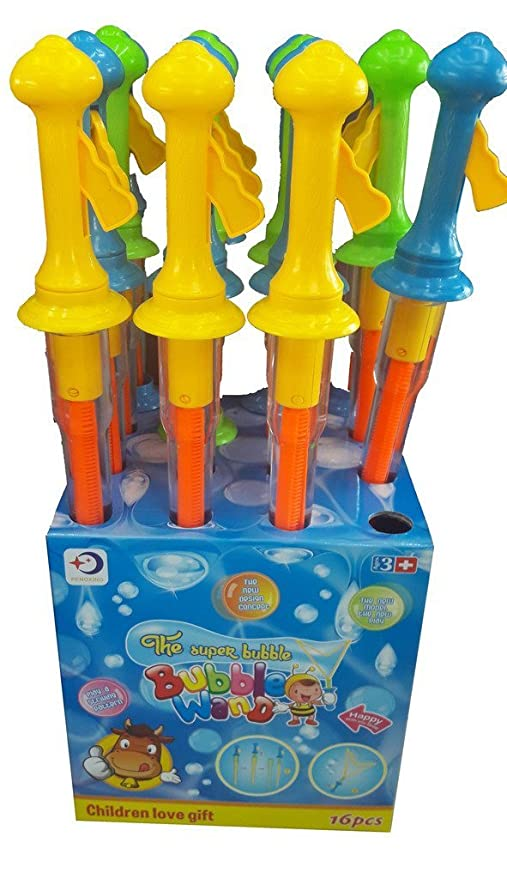 24 x Large Bubble Swords 36cm Wands Outdoor Party Summer Toys Fillers