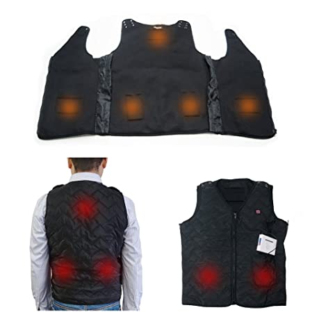 ARRIS Heated Vest Size Adjustable 7.4V Battery Electric Warm Vest for Outdoor Hiking Camping