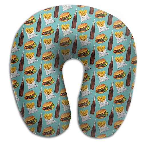 Hamburger Fries Soda Pattern Soft Microfiber Neck-support Travel Neck - Hot Sunglasses Buttered