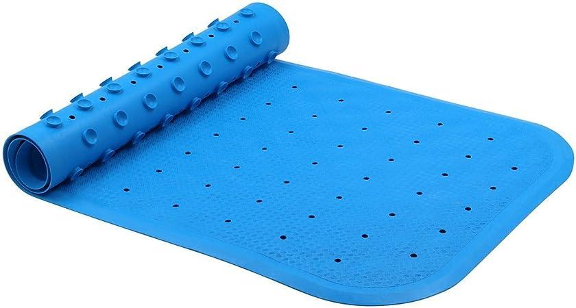 Alfombrilla de ducha antideslizante para ba/ño o piscina con ventosas fuertes 21,25 x 21,63,5 cm azul