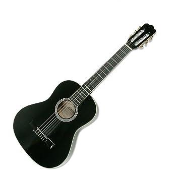 Ashton 3/4 tamaño guitarra clásica paquete CG34 acabado en negro ...
