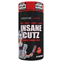 Insane Labz Insane Cutz Intense Fat Burner for Men and Women, Thermogenic Weight Loss Supplement with Dandelion Root Extract Fueled by AMPiberry, Appetite Suppressant - 45 Daily Srvgs (45 Capsules)