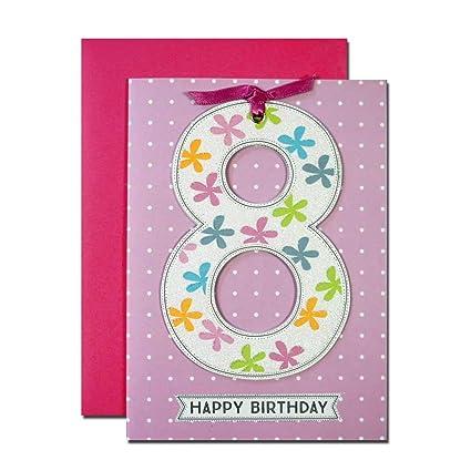 8 Happy birthdaybeautiful tarjeta de cumpleaños para un 8 ...