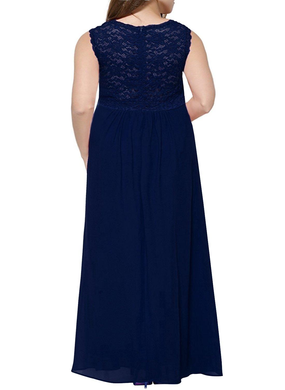 51f671c7707 ... Dresses Nemidor Women s Deep- V Neck Sleeveless Vintage Plus Size  Bridesmaid Formal Maxi Dress (16W