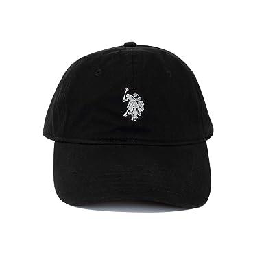 ca401c621d4 US Polo Association Men s Solid Horse Adjustable Cap (Black