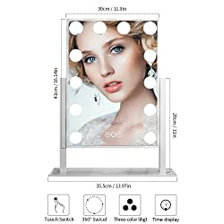 FENCHILIN Hollywood Large Lighted Vanity Mirror
