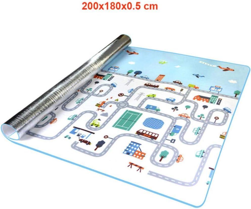 1 cm dick faltbare Baby-Spielmatte XPE Kinderteppich Klettern Stra/ße Pad Schaumstoff Pad umweltfreundlich geschmacklos Spieldecke Spielzeug 200 cm x 150 cm c