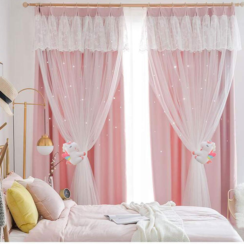 Cherry Unicorn SHDZKJ 1Pair Unicorn Curtain Buckle Unicorn Stuffed Toys Cartoon Animal Curtain Holder for Girls Kids Nursery Window Decoration