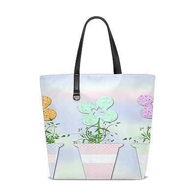 Amazon.com  NQEONR Women Flower Flowers Vintage Flowerpot Pastel ...