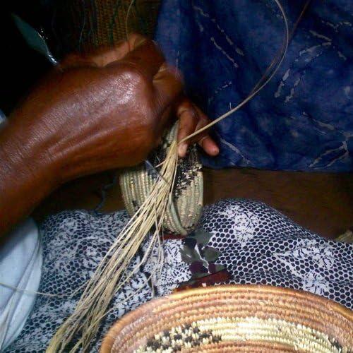 Fair Trade Uganda African Bukedo /& Raffia Bowl 11.5-12.5 Across UR5812