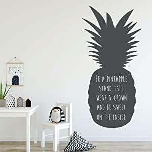 Pineapple Wall Decor - Be A Pineapple Stand Tall - With Hawaiian Tropical Pineapple Design - Pineapple Decor -Teen Girl Bedroom Decoration