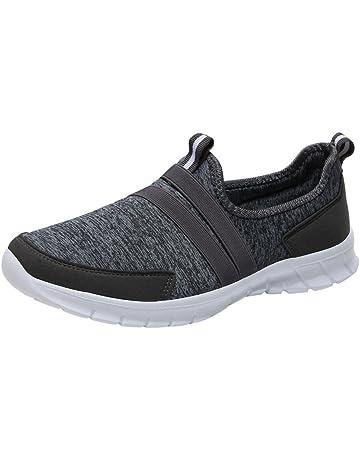 sports shoes d9fb3 bf92e Baskets Unisexe Sneakers sans Lacets Femme Homme Chaussures Plates  Compensées Overdose Automne Hiver Casual Sportwear Tennis