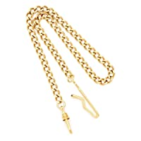 Charles Hubert Brass with Gold Finish 14.5In Pocket Watch Chain