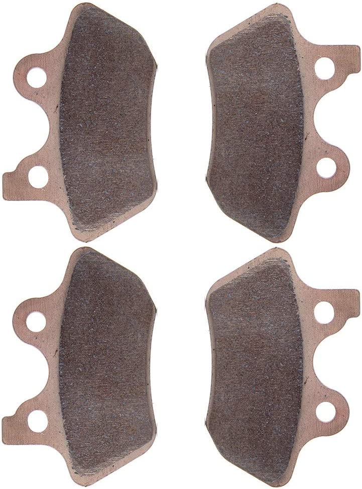 FEIPARTS Original Replacement Front and Rear 2 pairs brake pads Fit For 2000-2007 Harley-Davidson Fatboy 2000-2007 Harley-Davidson Dyna