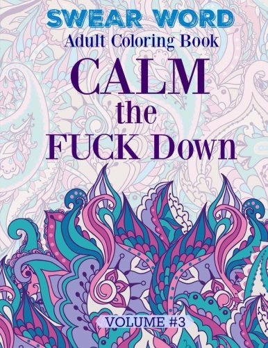 SWEAR WORD Adult Coloring Book Calm The FUCK Down Amazonca Swear Word Designs And Sarahberras Bubble Castle Books