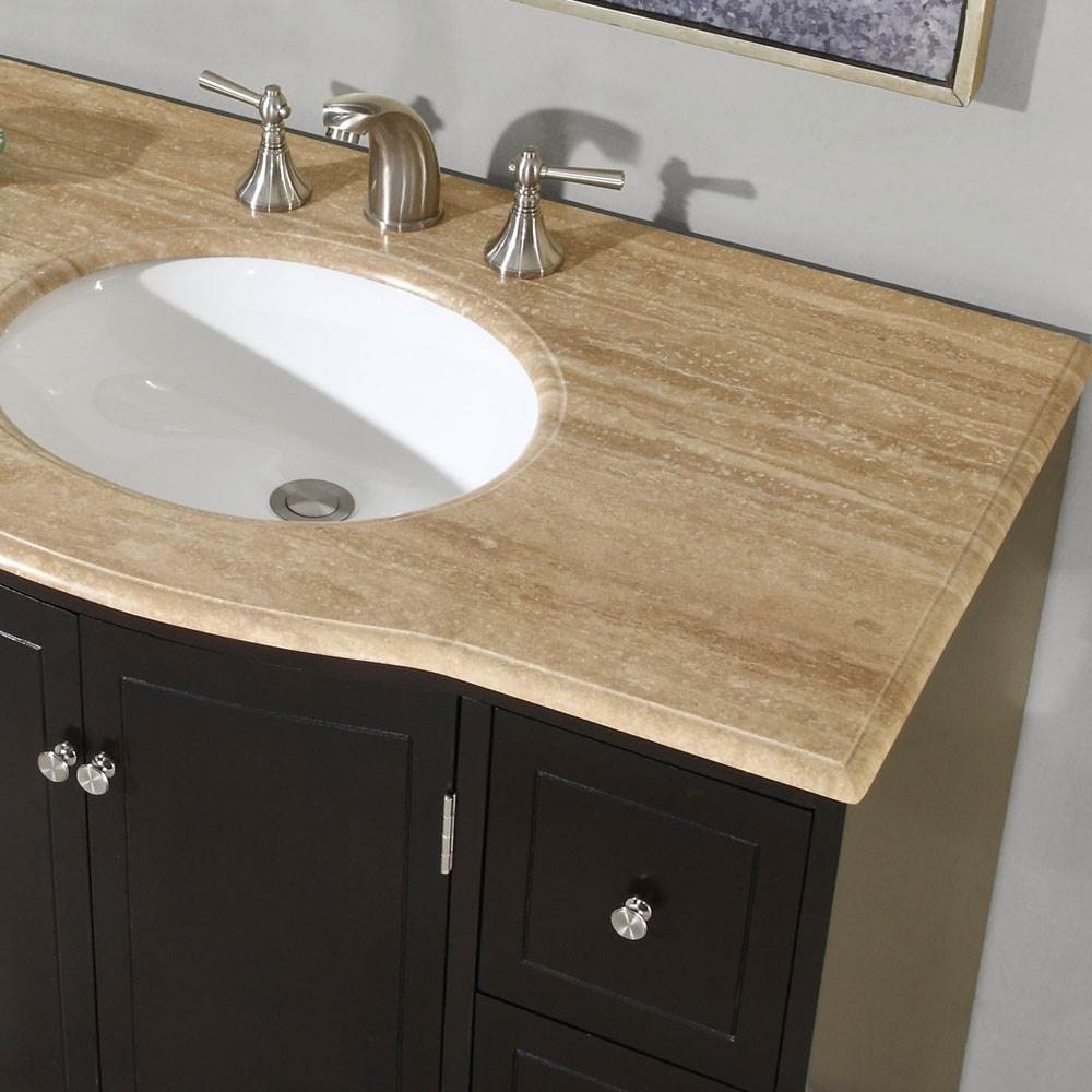Naomi Single Sink Bathroom Vanity In Expresso (White Sink)   Silkroad Vanity    Amazon.com