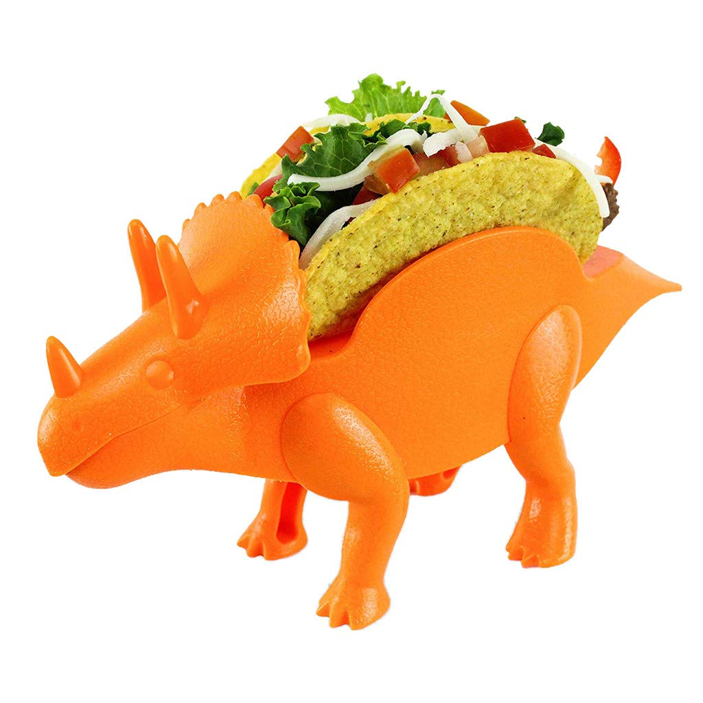 The Perfect Gift for Kids and Kidults Holds 2 Tacos sunnymi Holder Stand Green Dinosaur Tortilla Dish Tortilla Scaffold