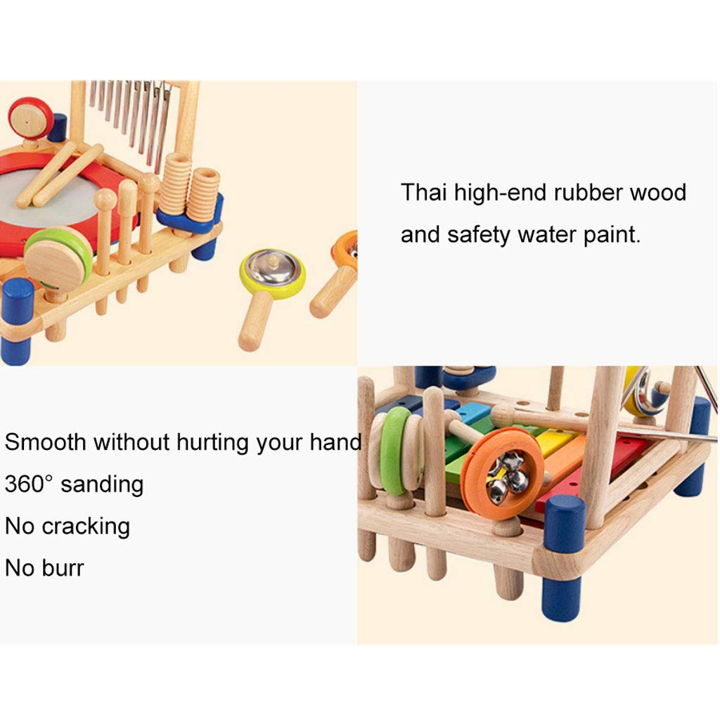 ZYN Child Percussion Instrument Combination Enlightenment Early Education Wooden Educational Toy by ZYN (Image #4)