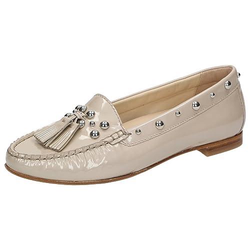 Sioux - Mocasines de charol para mujer Beige beige, color Beige, talla 37: Amazon.es: Zapatos y complementos