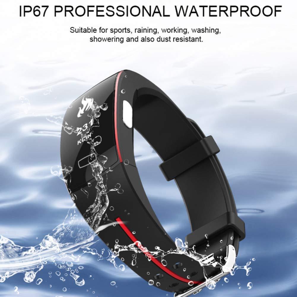 OJBDK Color Screen Blood Pressure Smart Band Heart Rate Monitor PPG ECG Smart Bracelet Activit Fitness Tracker Smart Wristband