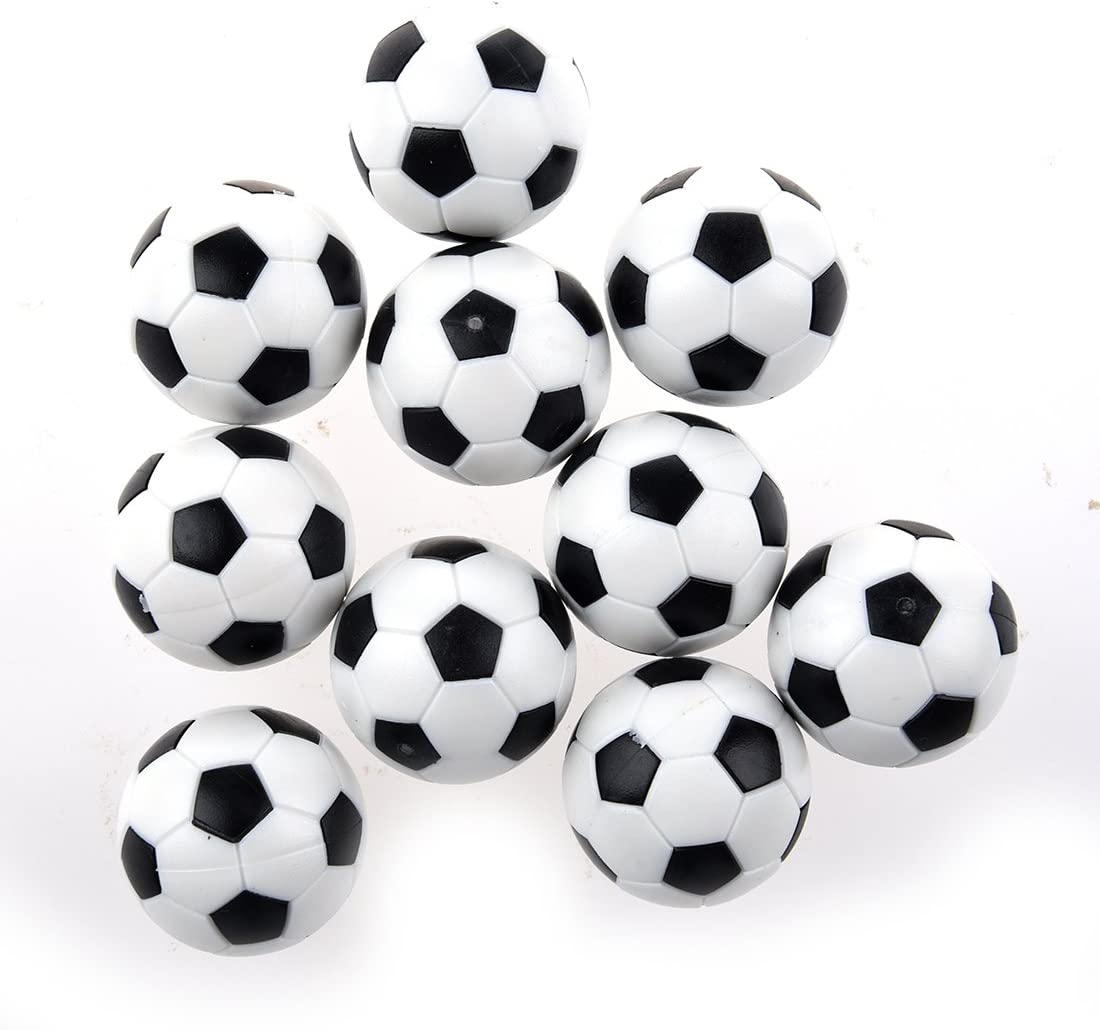 WOVELOT 10pcs 32mm Futbolin de Mesa plastico Bola del Futbol de Tableta: Amazon.es: Juguetes y juegos
