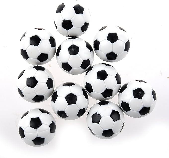SODIAL(R) Futbolin 10pcs 32mm Futbolin de Mesa plastico Bola del ...