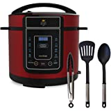 Pressure King Pro by drew&cole 12-in-1 Electric Pressure Cooker, 5 litre, 900 W, Red with Extra 3 Year Extended Warranty (As Seen on High Street TV)