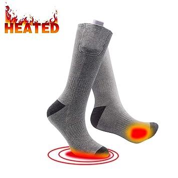 Calcetines Calentador recargable calcetines calefactables clima frío calcetines térmicos unisex Sox ideal para hombres mujer al aire libre actividades de ...