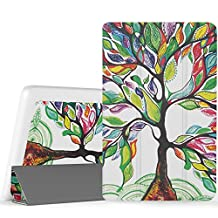 "MoKo Lenovo Tab3 A8 / Tab2 A8 Case, Ultra Compact Protection Slim Lightweight Smart Shell Stand Cover Case for Lenovo Tab 2 A8-50 8"" Tablet, Tab 3 8 (TB3-850F) 8-Inch Tablet 2016 Release, Lucky Tree"