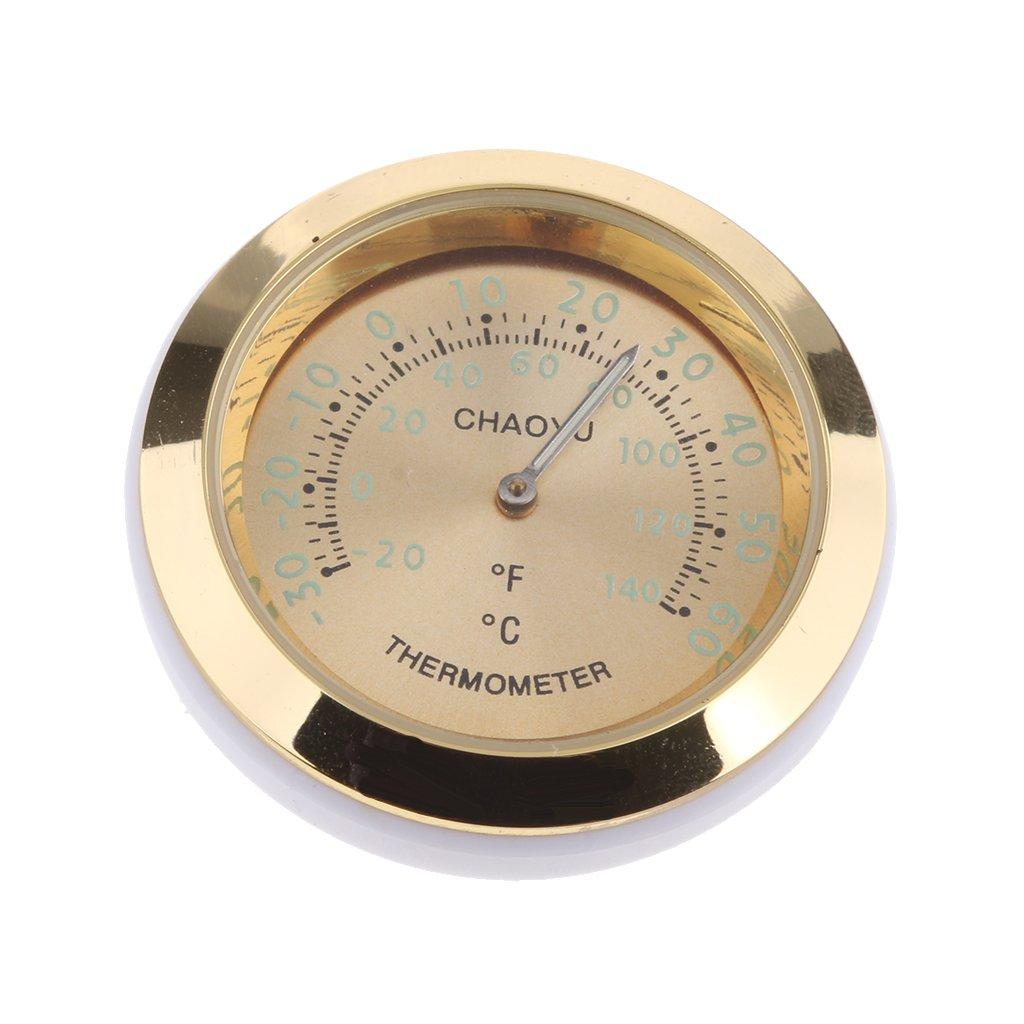 Selbstklebend Gold Baoblaze Mini Autothermometer Messung Temperatur im Innenraum Oder Au/ßenbereich