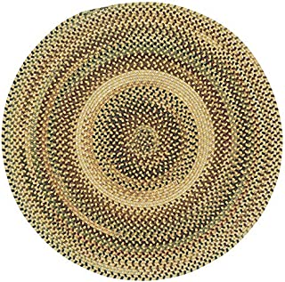 product image for Capel Rugs Bangor 3 ft. Round Braided Area Rug (Amber)