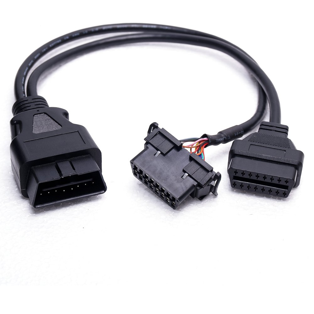 Obd2 Obdii Y Adapter Diagnostic Connector Cable Fits For To Usb Wiring Diagram All Cars Automotive