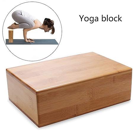 RXRENXIA Bloque De Yoga De Bambú De Madera, Bloques De Yoga ...