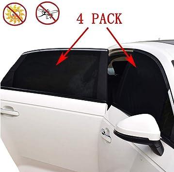 /Parasol de rayos UV protecci/ón auto veh/ículo camiones SUV Rear Window Cortina Parasol plegable dise/ño de beb/é y familia pantalla 2pcs universal coche ventana lateral Parasol de malla transpirable/